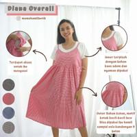 Diana Dress Overall Baju Hamil Menyusui Satu Set Inner - DRO 1013