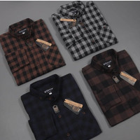 Baju Kemeja Flanel Kotak Kotak Premium Distro Kemeja pria cowok