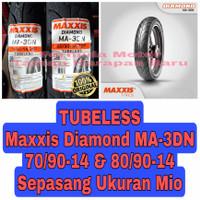 Maxxis 70/90-14 & 80/90-14 Diamond MA 3DN - Sepasang Ban Motor Mio