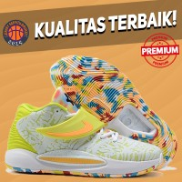 Sepatu Basket Sneakers Nike KD 14 Lime Green WHITE GREEN PUTIH HIJAU