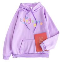 Hoodie Sweater Jaket Baju Hangat Anak Perempuan 6-10 Tahun BangtanF - Ungu