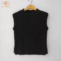 Thrift Vest Blouse Kaos Rajut Wanita Atasan Import Premium - GK003