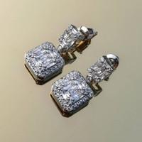 Calandre earrings/anting wanita/anting zircon /zircon stud/pesta