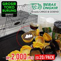 SARANG TEMPAT BERTELUR BURUNG PLASTIK JUMBO SUSUH KENARI LOVEBIRD20PCS