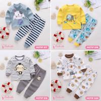 Baju Setelan Tidur Anak Bayi Lengan Panjang Lucu Cute Laki Perempuan