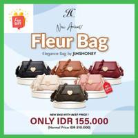 New Model Fleur Bag Jims honey original 100% Tas selempang Wanita - Hitam
