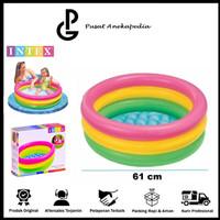Intex kolam anak pelangi - Sunset baby pool 3 ring 61cm x 22cm 57107