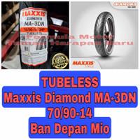 Maxxis 70/90-14 Diamond MA 3DN - Ban Depan Mio Ring 14 Tubeless