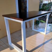 meja kerja/makan/kantor kayu mahoni uk 120x60x75