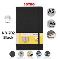 Notebook Buku Tulis Catatan Diary Agenda Joyko Hard Cover - Black, Grid