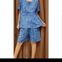 Baju Tidur Batik Anita Baby Doll Celana Pendek Size L