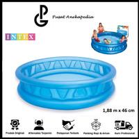 Intex Kolam Renang Soft Side Blue Kiddie Pool 1.88m x 46cm - 58431
