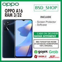 OPPO A16 RAM 3/32GB - GARANSI RESMI 1 TAHUN - Crystal Black