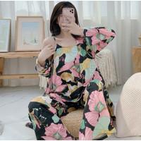 Set Kimono 3in1 PP Piyama Baju Tidur Wanita Import Fashion 7104
