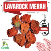 Batu Lava Rock Lavarock Merah Aquascape Aquarium isi 3 Kg Media Tanam