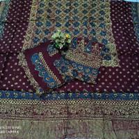kain sarimbit batik cap tulis motif sembagi bahan viscose trusmi cireb