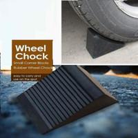 karet ganjalan parkir ban 95mm mini ganjal mobil rubber wheel parkin