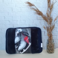 Bantal Panas Penghangat Terapi / Heating Pad / Hot Water Bag Gambar - Biru