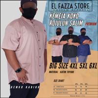 Kemeja Pria Jumbo BiG size - baju Koko Kurta ukuran besar ROSAL