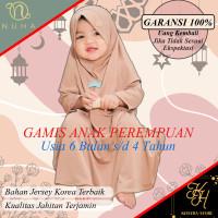gamis set baju muslim anak perempuan daily nuha,Coksu S 1 tahun