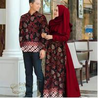 ka baju couple kapel cople kemeja batik gamis busana muslim fashion