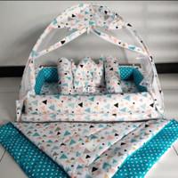 kasur bayi tenda selimut plus bantal dan guling