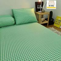 Set Bed cover Sprei bahan Katun Super bagus ukuran 160x200 t 40