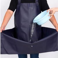 Apron pvc waterproof oil proof panjang anti air celemek karet - Putih