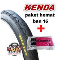 Ban Luar sepeda 16 x 1.75 Kenda paket hemat ban dalam 16 kingland