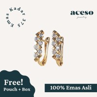 Anting Emas 375 - Amelia Earring - Anting Emas Asli Kadar 375