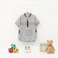 Baju Koko Pakistan Anak - Koko Anak Murah - Baju koko Bahan Premium- - Abu Muda, 4