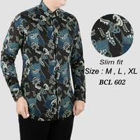 Batik Pria ,Kemeja Slimfit ,Baju Batik Modern Lengan Panjang D 368