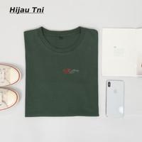 Kaos Polos Hijau Tni - Kaos Cotton Combed 30s Ukuran M L XL XXL - M