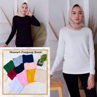 Kaos Lengan Panjang Wanita Kaos Inner Manset Muslim Bahan Adem Dalaman - Mustard
