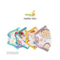 Velvet Junior Ukuran 6+ Cotton Bamboo Mask - Masker Kain 2 Ply