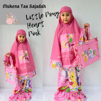 Mukena Anak Perempuan Karakter Little Pony Heart Tas Sajadah