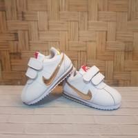 Sepatu Bayi Laki-Laki Nike Baby Cortez White Gold Putih Emas