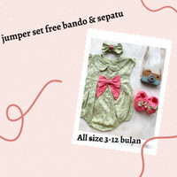 Baju Bayi Perempuan 0-6 Bulan /Jumsuit bayi Dress bayi lucu Jumper set