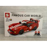 Sembo block mobil balap / mainan mobil /lego mobil balap/famous car - dodge336pcs