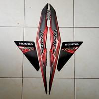 sticker striping lis body honda beat fi 2012 warna full hitam