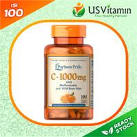 Puritan Vitamin C-1000 mg Bioflavonoids & Rose Hips - Termurah & Ori