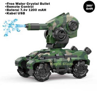 Mobil Tank Army RC Toys 1:12 Scale 4WD 15km/jam Mainan Anak Laki-Laki - Hijau