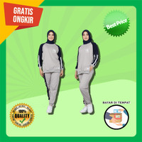 Baju wanita setelan olahraga sport senam training muslimah nisa set