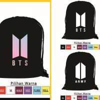 Draw String Bag Tas Serut Ransel Korea KPOP BTS Logo Bangtan JIMIN