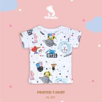Baju Kaos Anak Perempuan 1-10 tahun Motif BTS HL-001 | Verynery