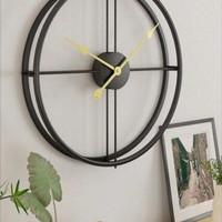jam dinding besi polos diameter 70cm