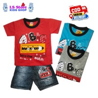 Baju Anak Laki Laki Setelan Celana Semi Jeans 5-6-7 Tahun Stelan Cowok
