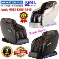 KURSI PIJAT ROVOS R 657 3 Dimensi Massage Chair ORIGINAL Coffee Beige