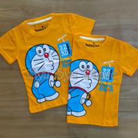 Baju Atasan Kaos Anak Laki Laki Cowok Doraemon Orange