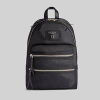 MARC JACOBS Mini Biker Backpack in Black Nylon